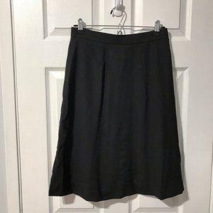 Vintage Burberrys Black Skirt 100% Wool Size 8